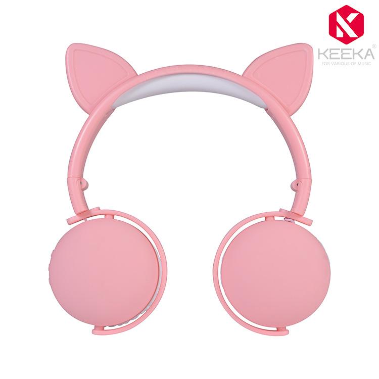 QIKA - Tai nghe Bluetooth kiểu tai thỏ dễ thương .