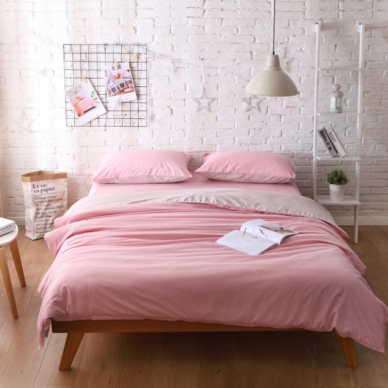 AFY drap mền Nhà máy trực tiếp Bắc Âu in bộ đồ giường siêu mềm bốn bộ vải dệt màu nhà đơn giản bao g