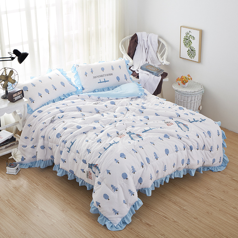 CLRX Mền sợi tổng hợp Giặt bông mùa hè mát mẻ là bán buôn máy lạnh giường đơn cho sinh viên ký túc x