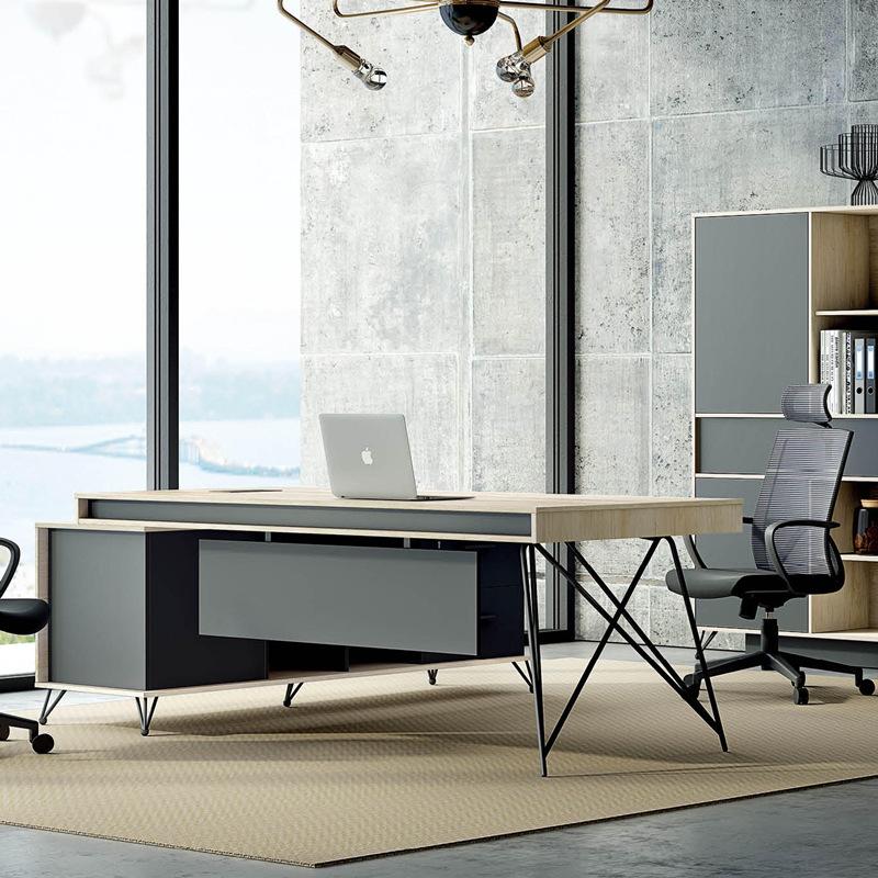 KAISHUO Thị trường nội thất văn phòng Nội thất văn phòng đơn giản hiện đại ông chủ bàn ghế kết hợp c