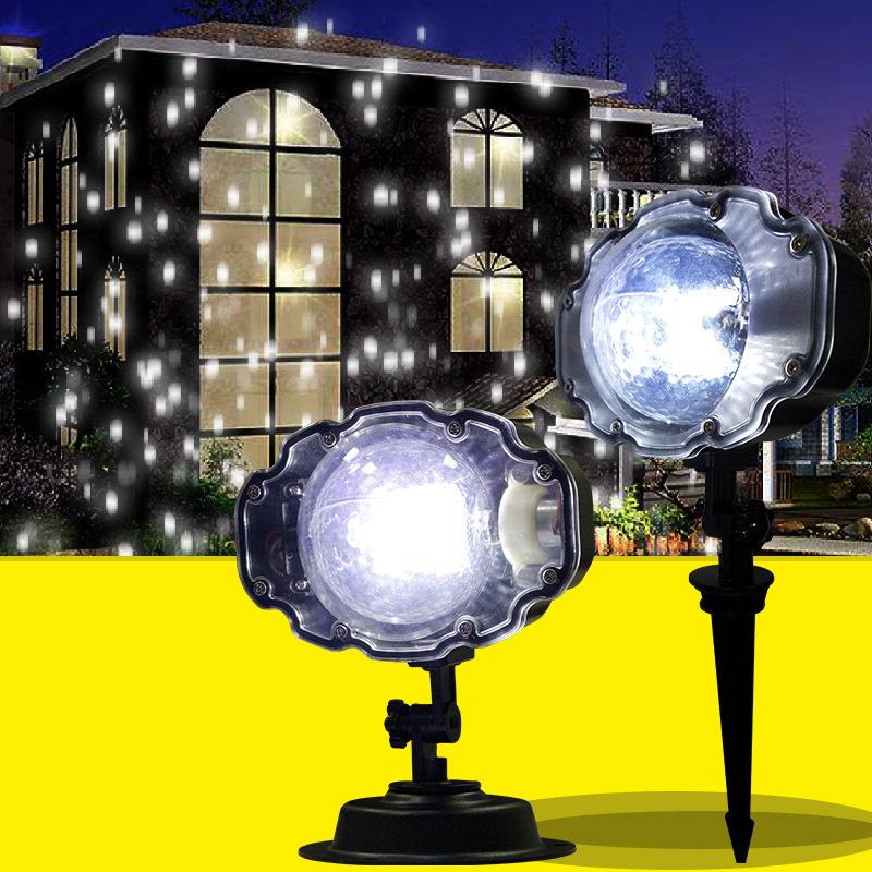 Seenroou Đèn sân khấu Led mini Giáng sinh bông tuyết chiếu đèn sân khấu laser ánh sáng thanh ktv spo