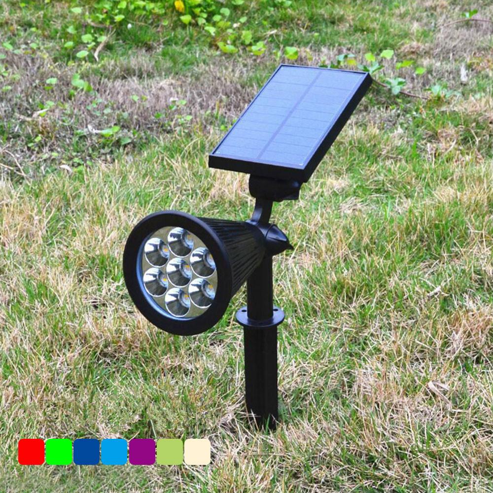 Đèn LED sân vườn ngoài trời 7LED , tích hợp năng lượng mặt trời .