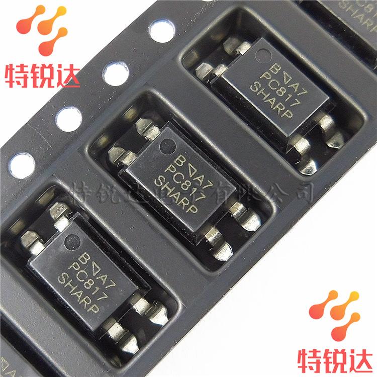Sharp Thiết bị điện quang PC817 PC817B SMD SOP-4 Bộ ghép nối mới sắc nét / sắc nét PC817C PC817-SMD