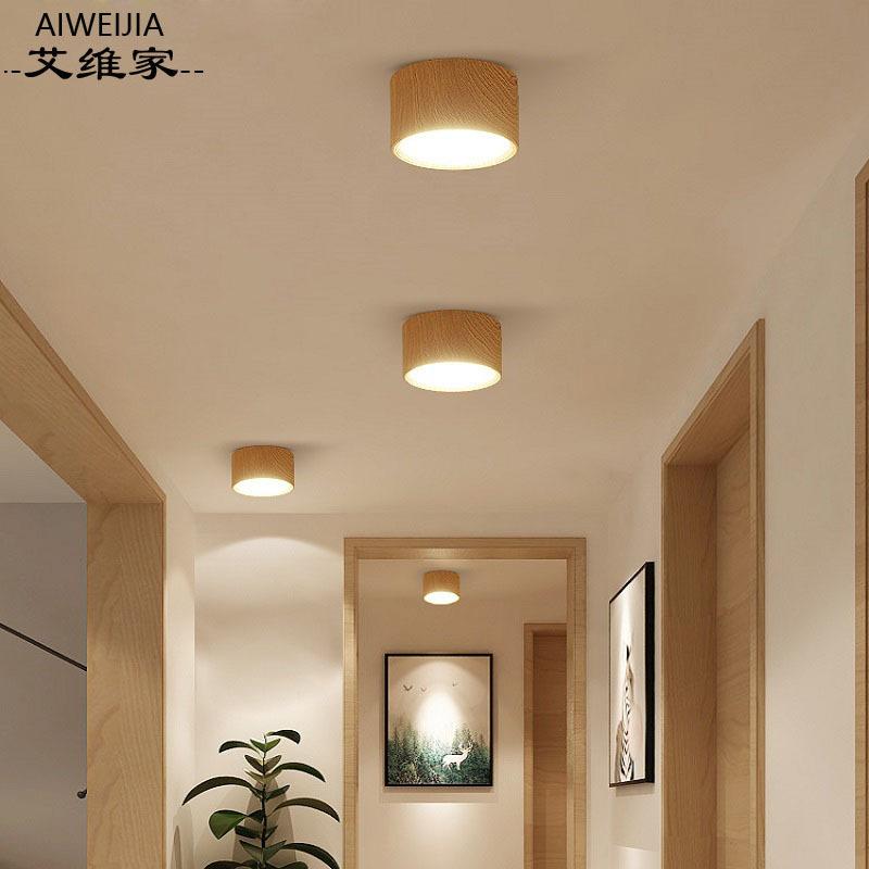 MEIZHICHEN Bóng đen LED âm trần Bắc Âu Ming gắn đèn downlight led lối đi đèn trần phòng khách hành l