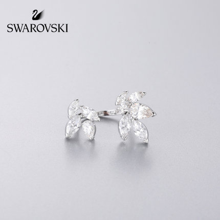 đồ trang trí trang phục Swarovski LOUISON vàng trắng thanh lịch nữ tính mở nhẫn nữ trang sức