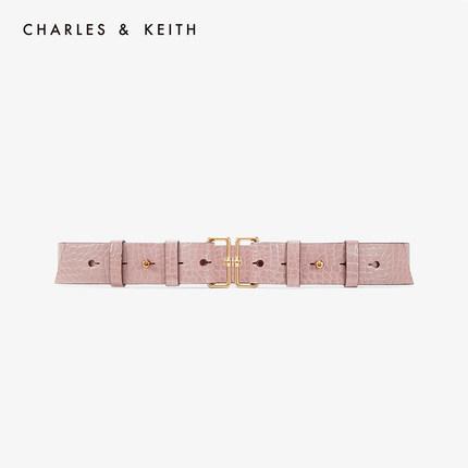 đồ trang trí trang phục  CHARLES & KEITH Belt CK4-32250231 Vintage Metal Buckle Thắt lưng nữ rộng