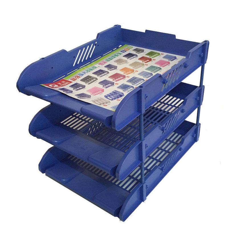 khay để hồ sơ tập tin bằng nhựa 3 tầng để bàn đa chức năng