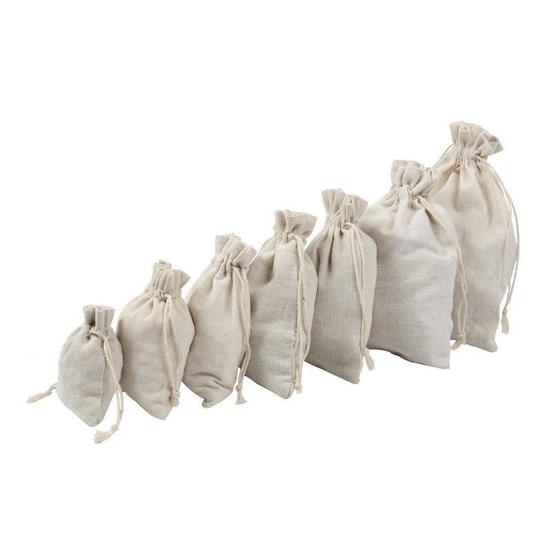 Thị trường bao bì khác / bao bì vải / bao bì giấy Bông vải túi dây rút polyester bó bông túi màu rắn
