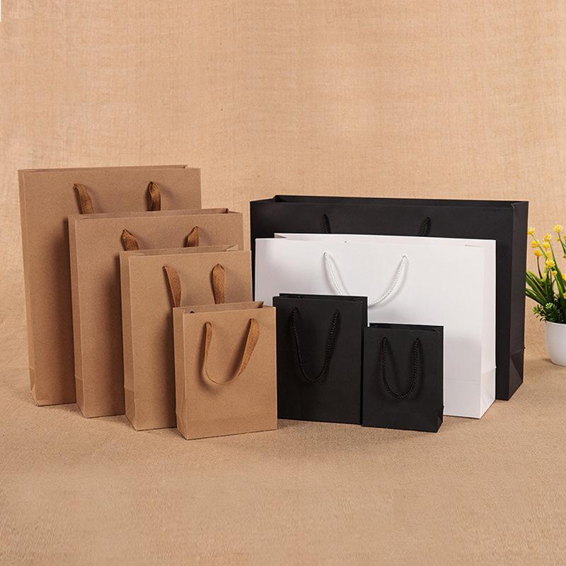 SHOUHENG Túi giấy đựng quà Túi giấy tùy chỉnh túi quà tặng quần áo túi mua sắm túi tote tùy chỉnh tú