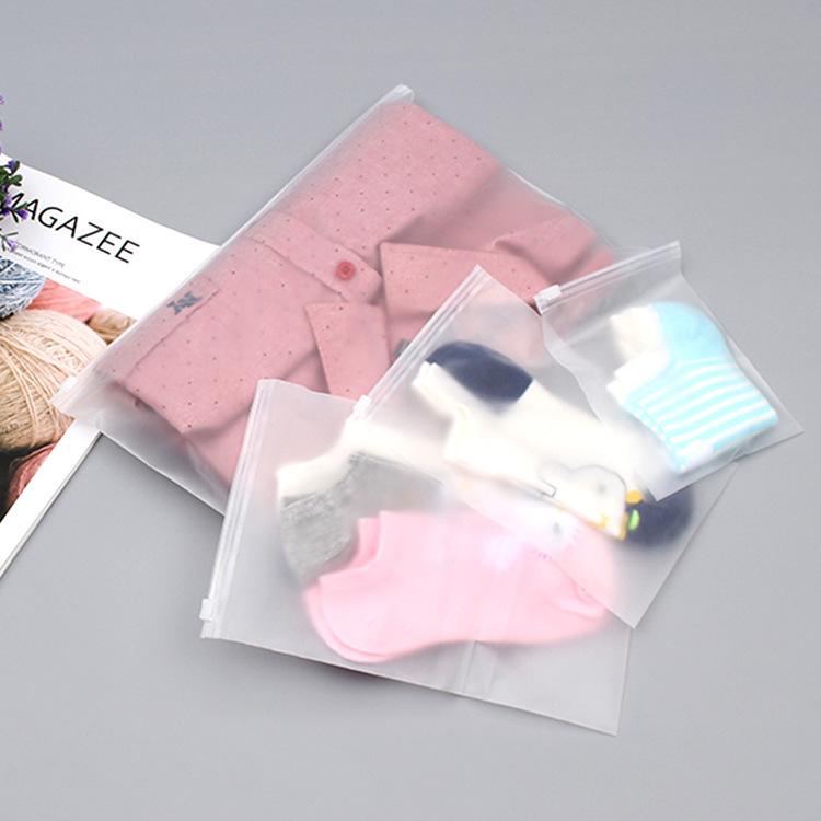 Túi đựng áo lót Chà PE khóa kéo túi vớ xà cạp túi tùy chỉnh đồ lót tự niêm phong nhựa trong suốt quầ