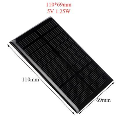 Tấm năng lượng mặt trời đơn tinh thể YL45 * 45 và 110-69mm và 66 * 110