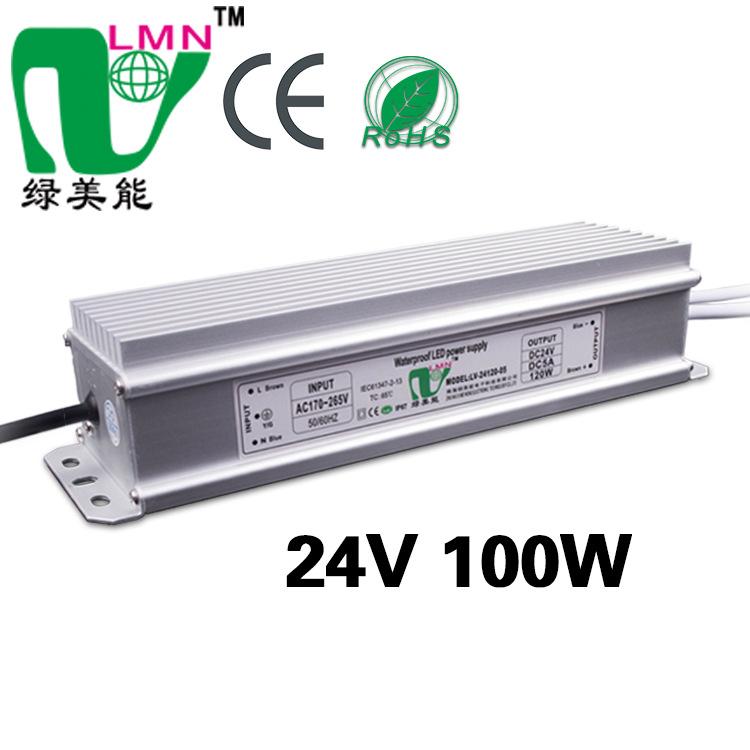 LVMEINENG Cung cấp LED điện áp không đổi 24 VDC, cung cấp điện chuyển mạch 100W. Bộ nguồn không thấm