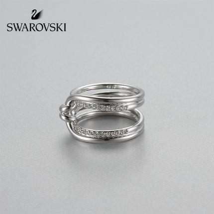 đồ trang trí trang phục Swarovski LIFELONG vàng trắng thời trang kink thiết kế nhẫn nhẫn nữ trang sứ