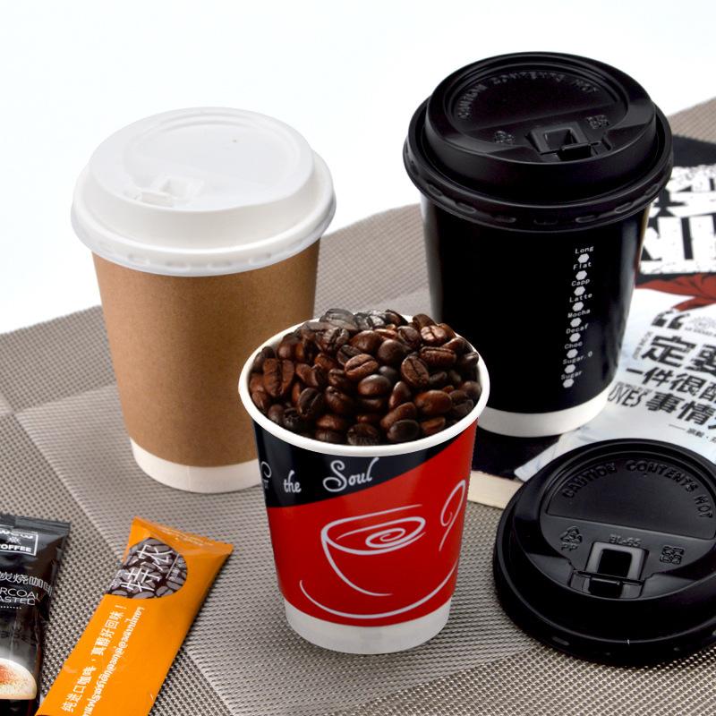 LBH Ly giấy Trumpet cốc giấy hai lớp rỗng Cách ly chống vảy dùng một lần cốc cà phê cốc sữa trà sữa
