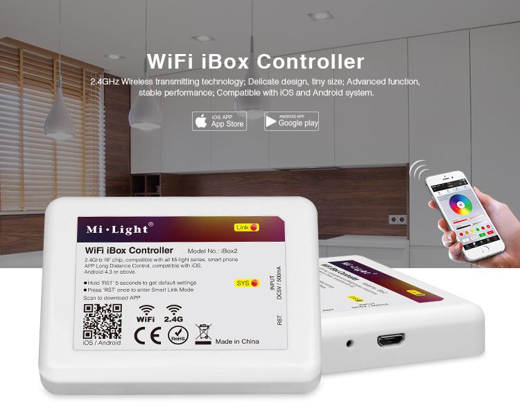 Bộ điều khiển WIF di động APP tải xuống điều khiển từ xa Bóng đèn LED Cổng màu thông minh WIFI