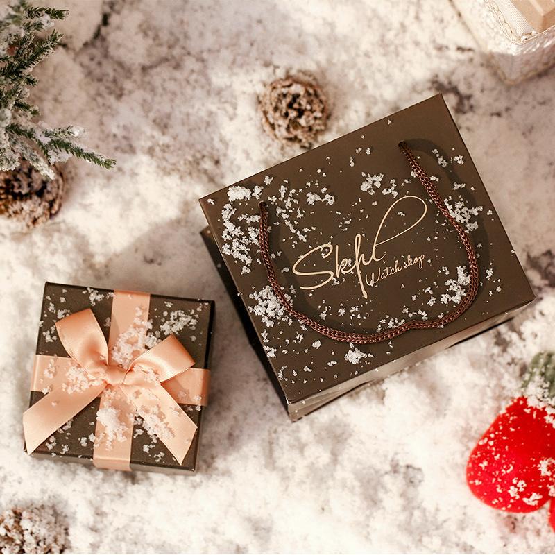 EAVANLIN Hộp trang sức Bow hộp quà tặng hộp hộp trang sức hộp quà tặng hộp tùy chỉnh gỉ sét nâu nâu