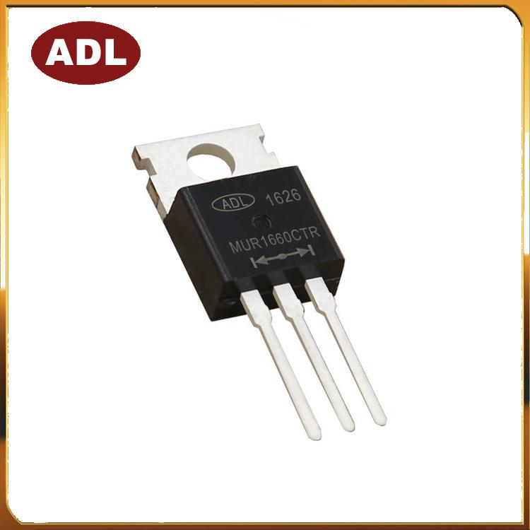 ADL Điốt bán dẫn Diode phục hồi nhanh chip MUR1660CTR 16A600V nhập khẩu