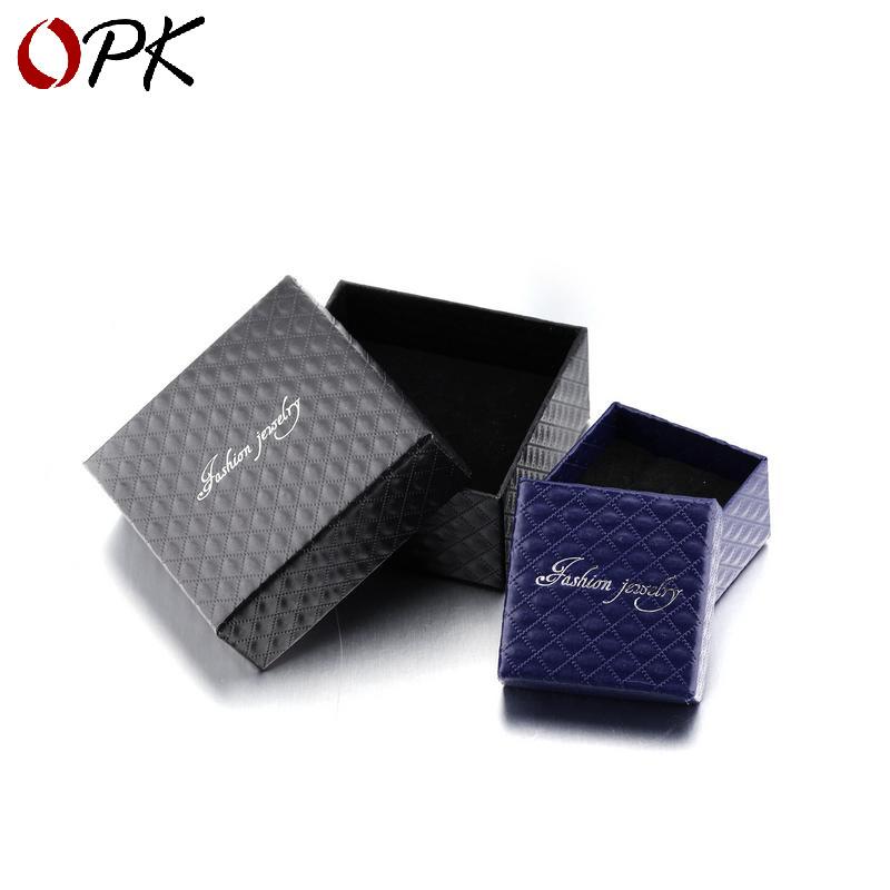 OPK Hộp trang sức Nhà sản xuất nhẫn trang sức hộp bán buôn có thể được tải vòng đeo tay vòng chân vò