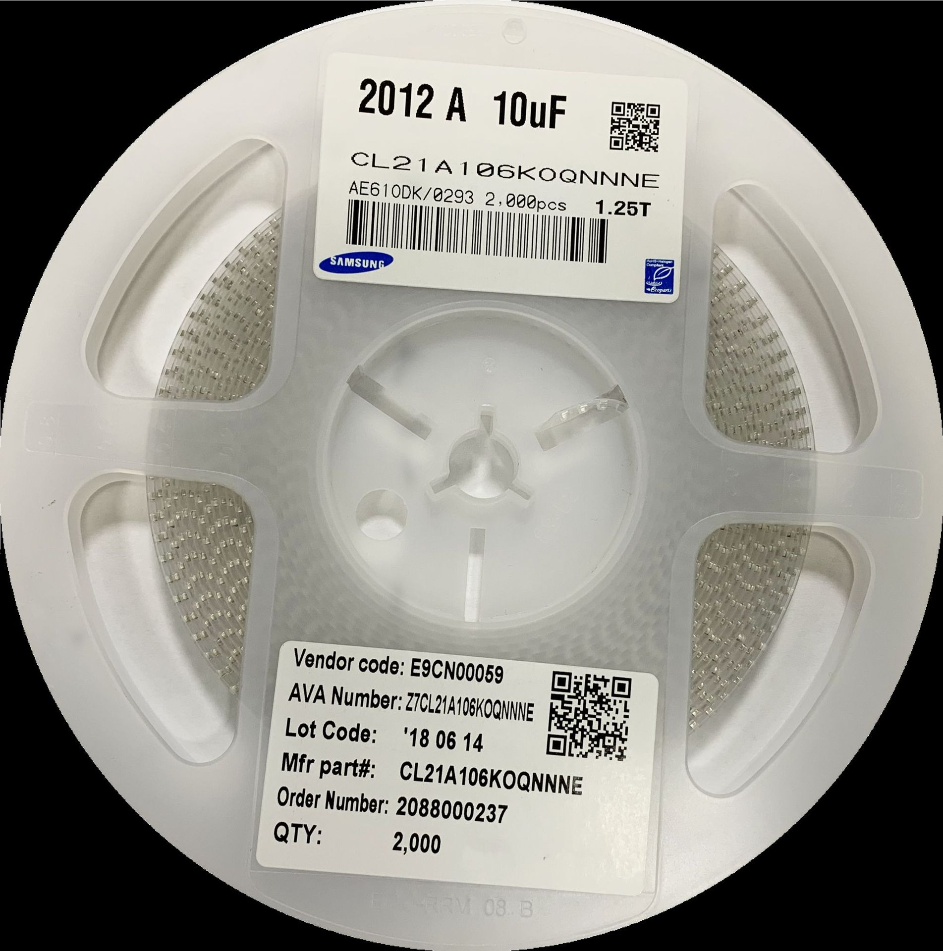 Tụ Ceramic Chip tụ 0805 106K 10UF 106M 10V 10% X5R có thể thẳng 104K...