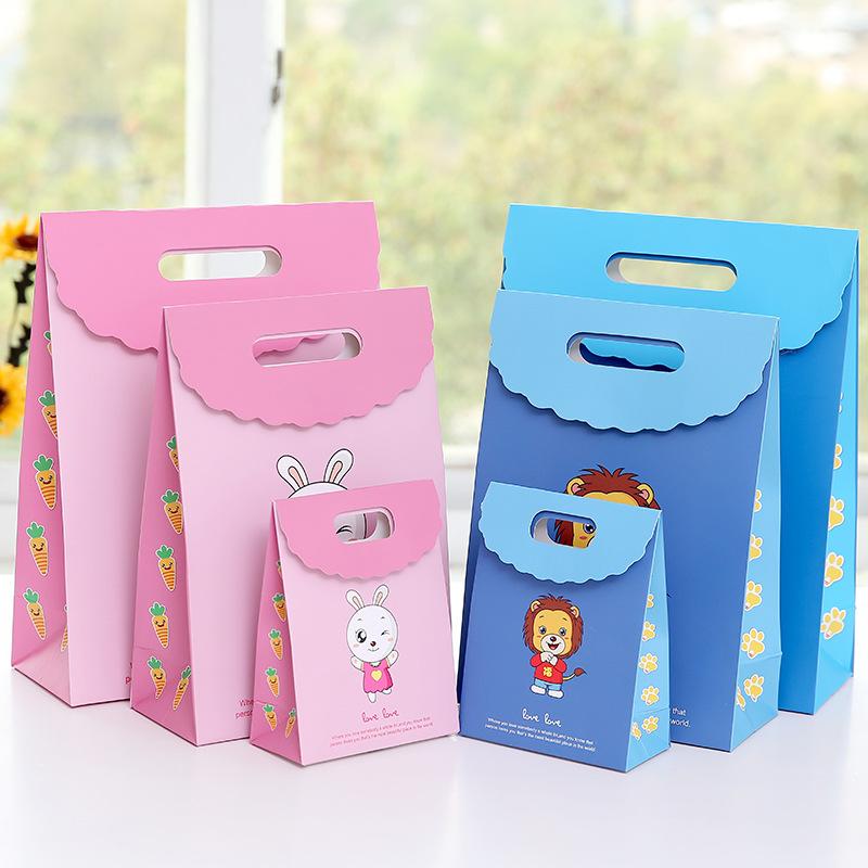 Túi giấy đựng quà Quà tặng túi giấy sinh nhật túi quà tặng dễ thương hoạt hình sáng tạo túi tote thỏ