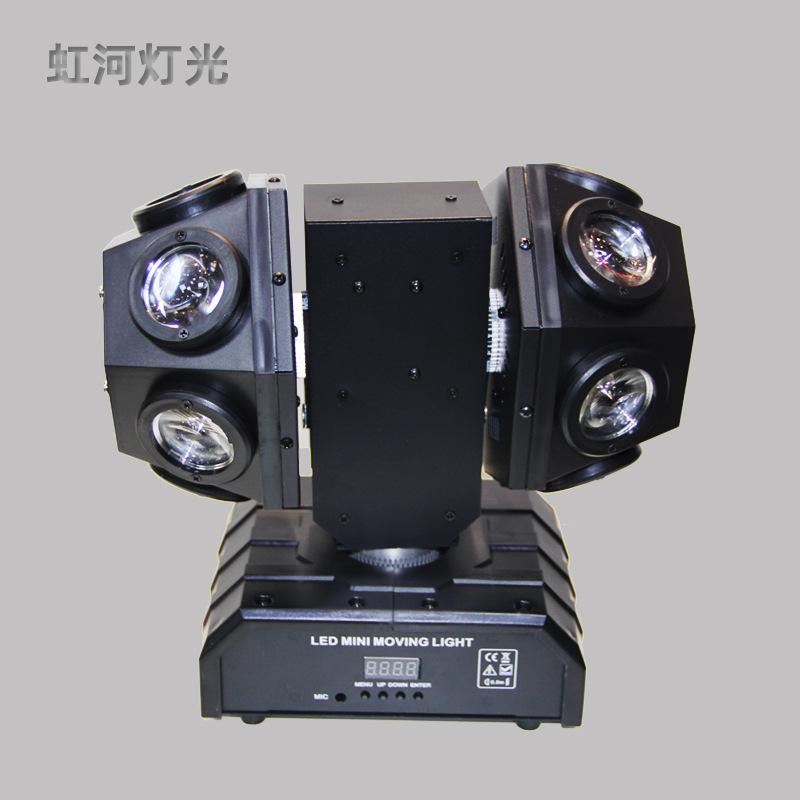 VANDEMY Đèn sân khấu Nhà máy trực tiếp LED mini cánh tay di chuyển đầu thanh ánh sáng chùm đèn sàn n