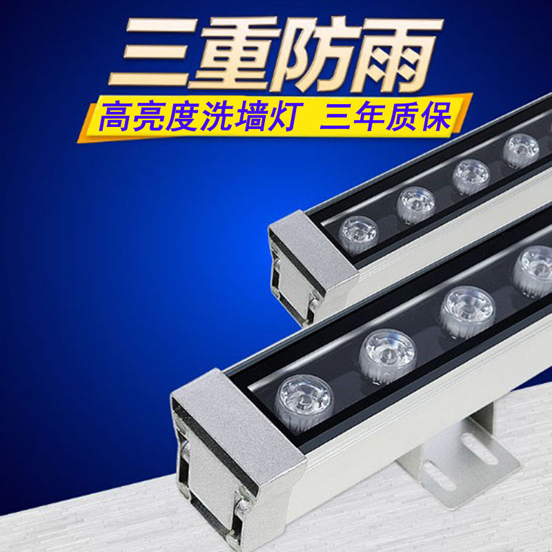 SHENGPING Đèn LED Wall Washer Led máy giặt tường DMX512 dòng ánh sáng 18W24W đèn tuyến tính ngoài tr