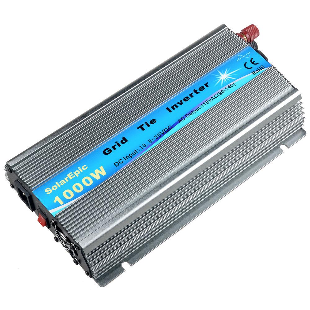Biến tần kết nối lưới MPPT sóng sin tinh khiết 18V / 24V / 36V biến tần năng lượng mặt trời 1000W bạ