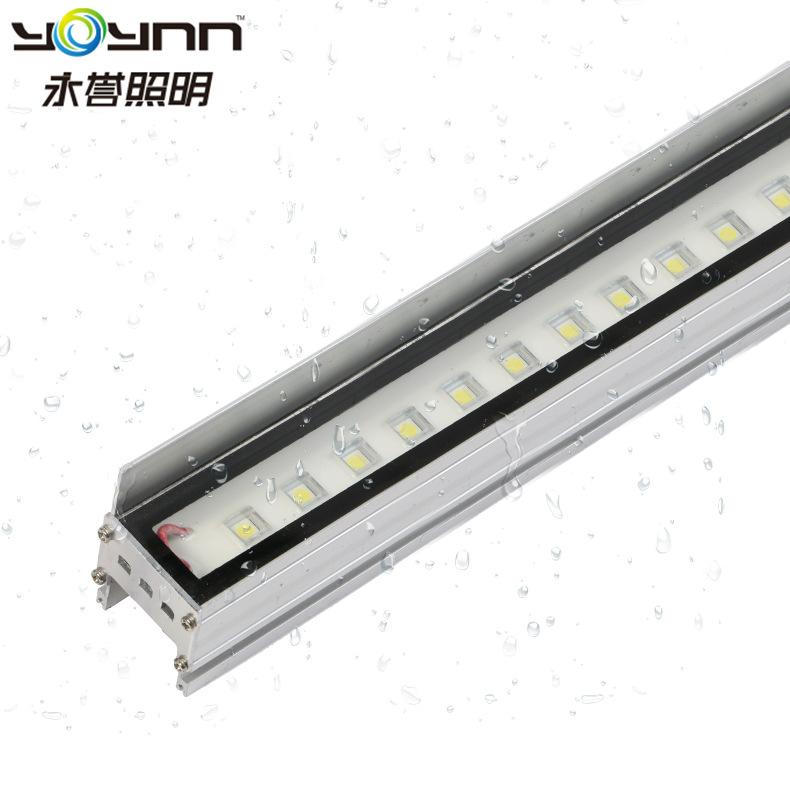 YONGYU Đèn LED Wall Washer Led line light 12W ngoài trời không thấm nước chiếu sáng spotlight khách