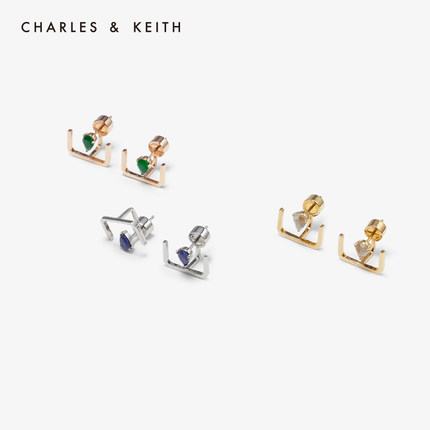 đồ trang trí trang phục CHARLES & KEITH Hoa tai CHARLES & KEITH CK5-41470032 Hoa tai đá quý bán thời