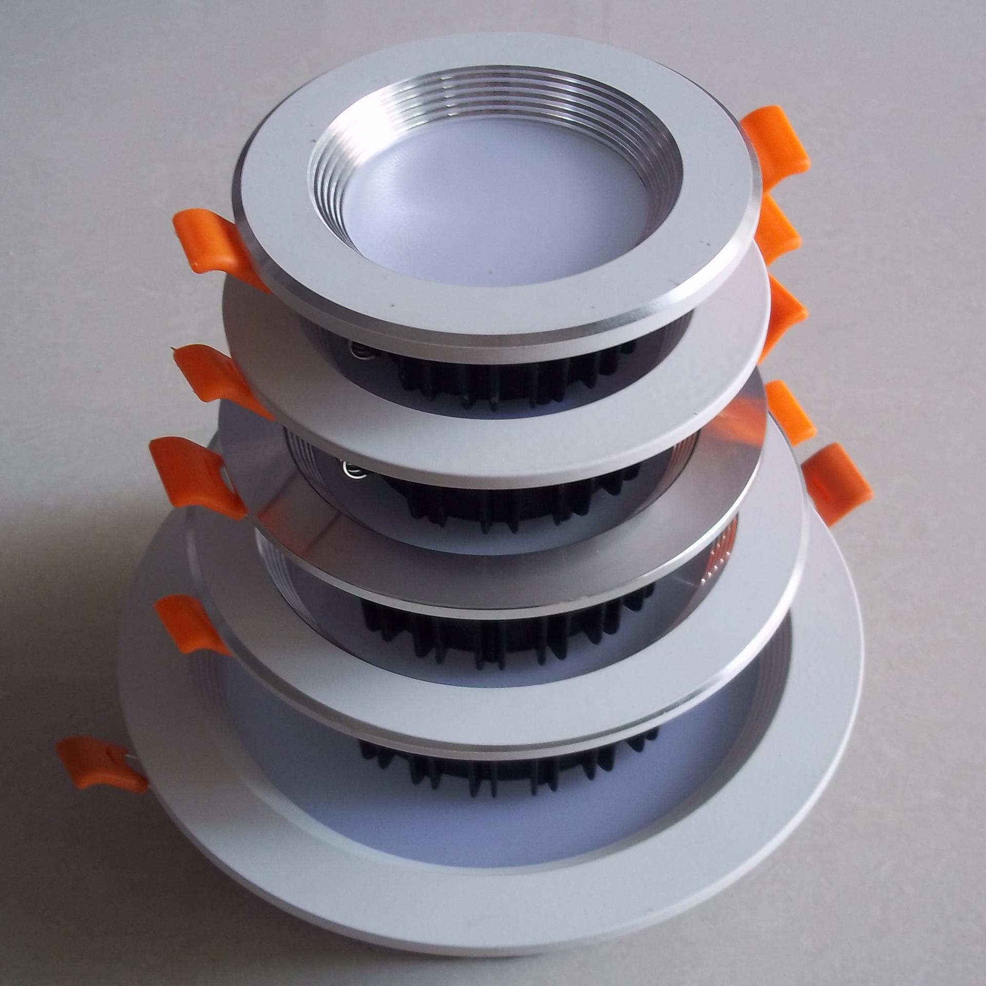 YIHUIDA Đèn trần bộ LED die-cast kit nhà ở downlight nóng bán bộ vỏ 5 inch Bộ vỏ đèn led ba cánh