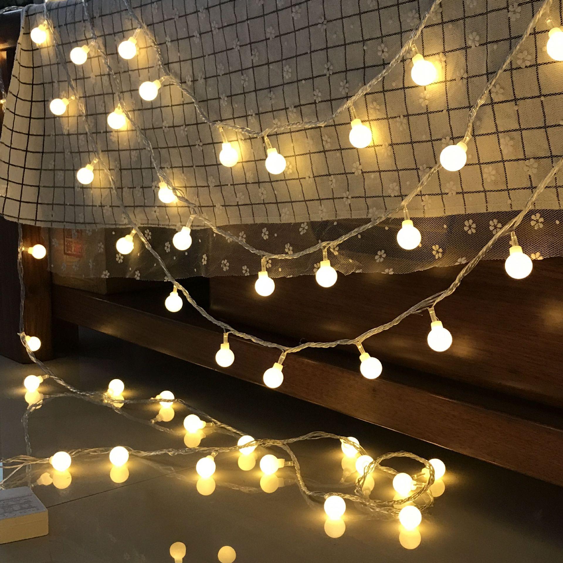 YINGLONG Đèn trang trì Led chuỗi pin USB phần bóng chuỗi ánh sáng đầy sao Giáng sinh nhỏ đèn sao ánh