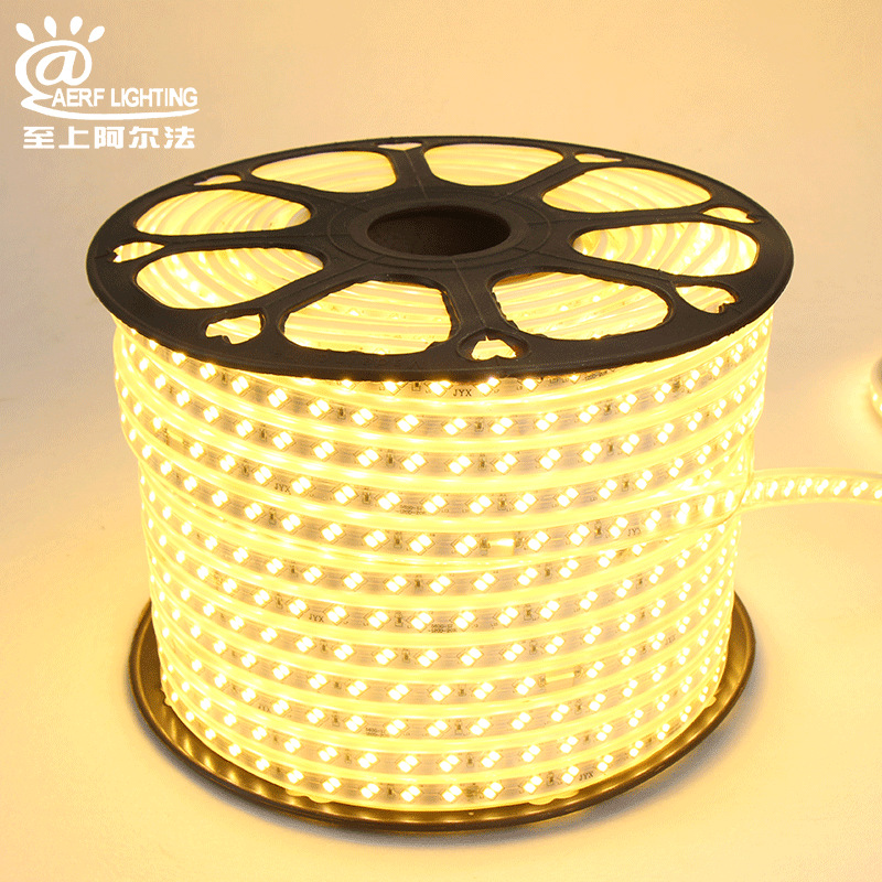 Đèn LED dây Nhà máy trực tiếp đèn 5730 với áp suất cao 220v 120 hạt đôi hàng đầy đủ lõi đồng trắng F