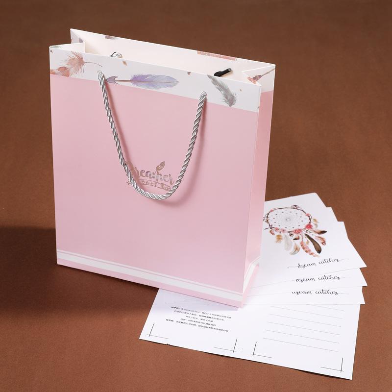 MZSZ Túi giấy đựng quà Ins quà tặng đơn giản túi giấy túi tote sinh nhật ngày lễ người yêu bắt giấc