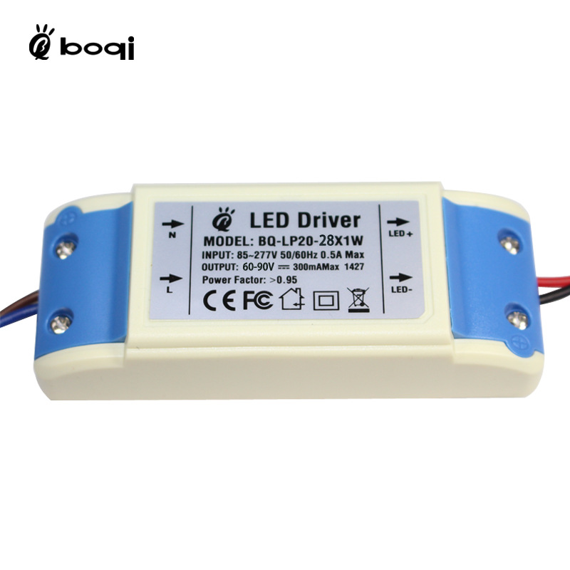 BOQI Bộ nguồn không đổi Nhà máy trực tiếp 24W28W300mA LED cách ly ổ đĩa ngoài hiện tại cách ly PFC c
