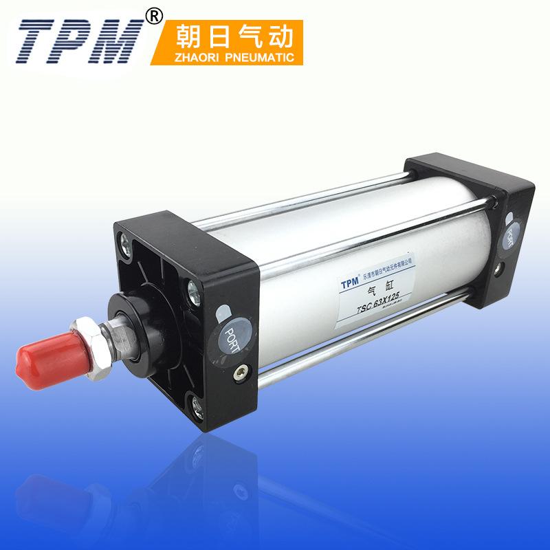 TPM Nhà sản xuất TPM Asahi Hợp kim nhôm SC xi lanh sắt tiêu chuẩn SC125X500-U với xi lanh từ tính