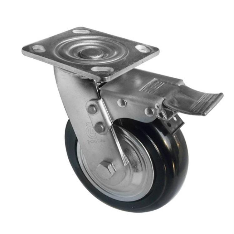 ZHONGGUAN bánh xe đẩy(Bánh xe xoay) Các nhà sản xuất Caster cung cấp 6 inch siêu nặng TPU màu đen ma