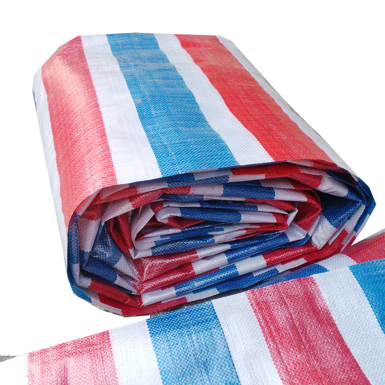 YONGGUANG Bạt nhựa Vải tráng đôi PE dải màu vải dày 4 * 50 vải chống nắng vải chống mưa vải ba màu c