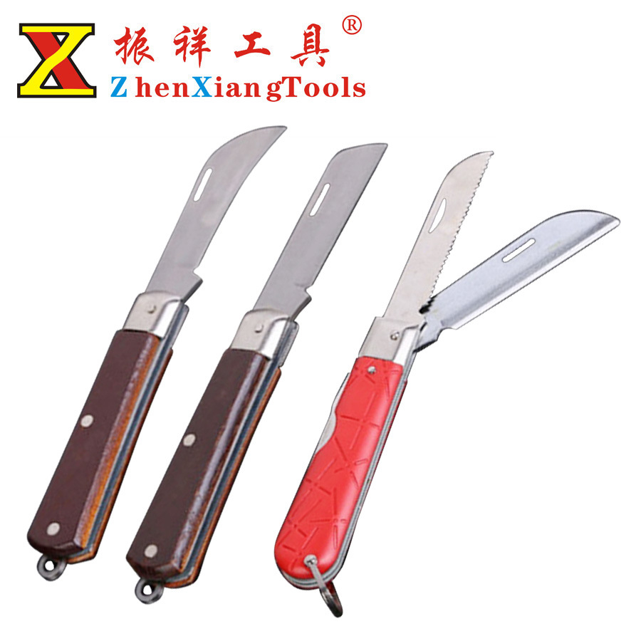 Dao thợ điện Sử dụng một lần, dao điện thợ điện đa năng, cán gỗ, dao điện cao cấp, dao điện của thợ