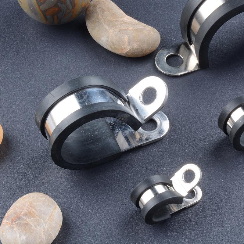 CRESCENT Ống kẹp Nhà máy cung cấp đặc biệt Kẹp cáp inox đôi Kẹp kim loại SKM kẹp chặt
