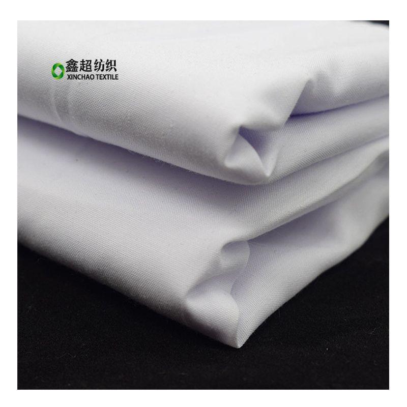 XINCHAO Vải mộc pha Vải cotton và polyester pha trộn co giãn 55 / 45C / T32S + 40D / 120x73 vải tẩy