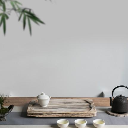CHAMOO  Mâm nhựa / Pallet nhựa   Qiao Mu gỗ hóa thạch hộ gia đình khay trà bàn trà biển tự nhiên toà