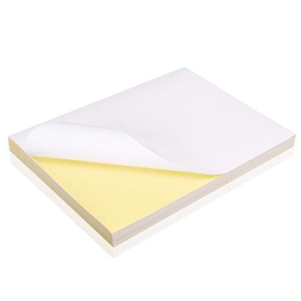Tem dán in mã vạch  [Gửi dao tiện ích, thước thép] Nhãn dán giấy tự dính 200 a4 Nhãn dán giấy kraft