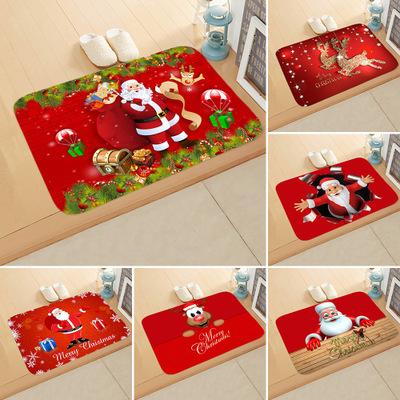 Đệm chân Giáng sinh xuyên biên giới Năm mới lễ hội Santa Claus nai sừng tấm phòng ngủ nhà tắm thấm n