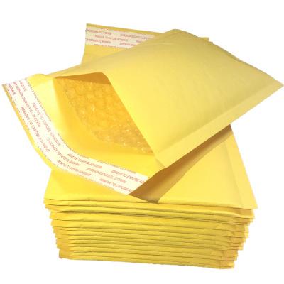 Túi đựng chuyển phát nhanh Nhà máy trực tiếp bong bóng phong bì giấy kraft vàng bong bóng nhanh bao