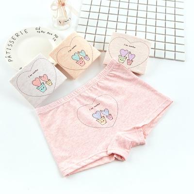 M10 + Quần lót Đồ lót trẻ em cotton cô gái boyshort phim hoạt hình đồ lót cotton dễ thương trong nhà