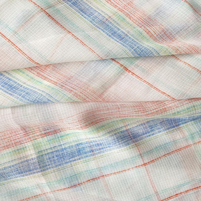 HUAYIFANG Vải Chiffon & Printing Dệt vải mới in hình kẻ sọc mô hình in vải vải nhuộm tie