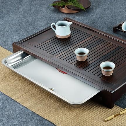 CHAMOO  Mâm nhựa / Pallet nhựa   Ap khay gỗ đàn hương màu đen khay gỗ hình chữ nhật nhỏ khay trà biể