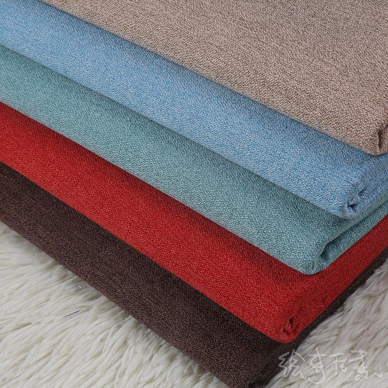 YOULING Vải Cotton pha Nhà máy trực tiếp màu rắn pha trộn vải lanh vải sofa vải bọc đệm tổng hợp túi