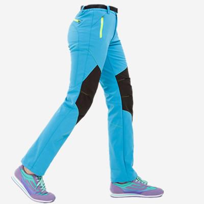 Lót nỉ Soflshell Mùa thu đông 2017 mới leo núi ngoài trời tùy chỉnh quần vỏ mềm cộng với quần nhung