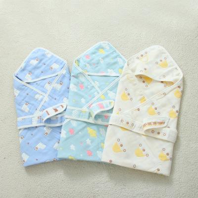 Khăn quấn 90 * 90 cm vải bông nguyên chất cho trẻ sơ sinh .